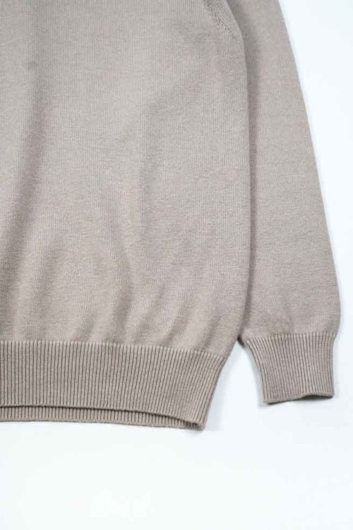 CASHMERE COTTON TURTLE NECK KNIT
