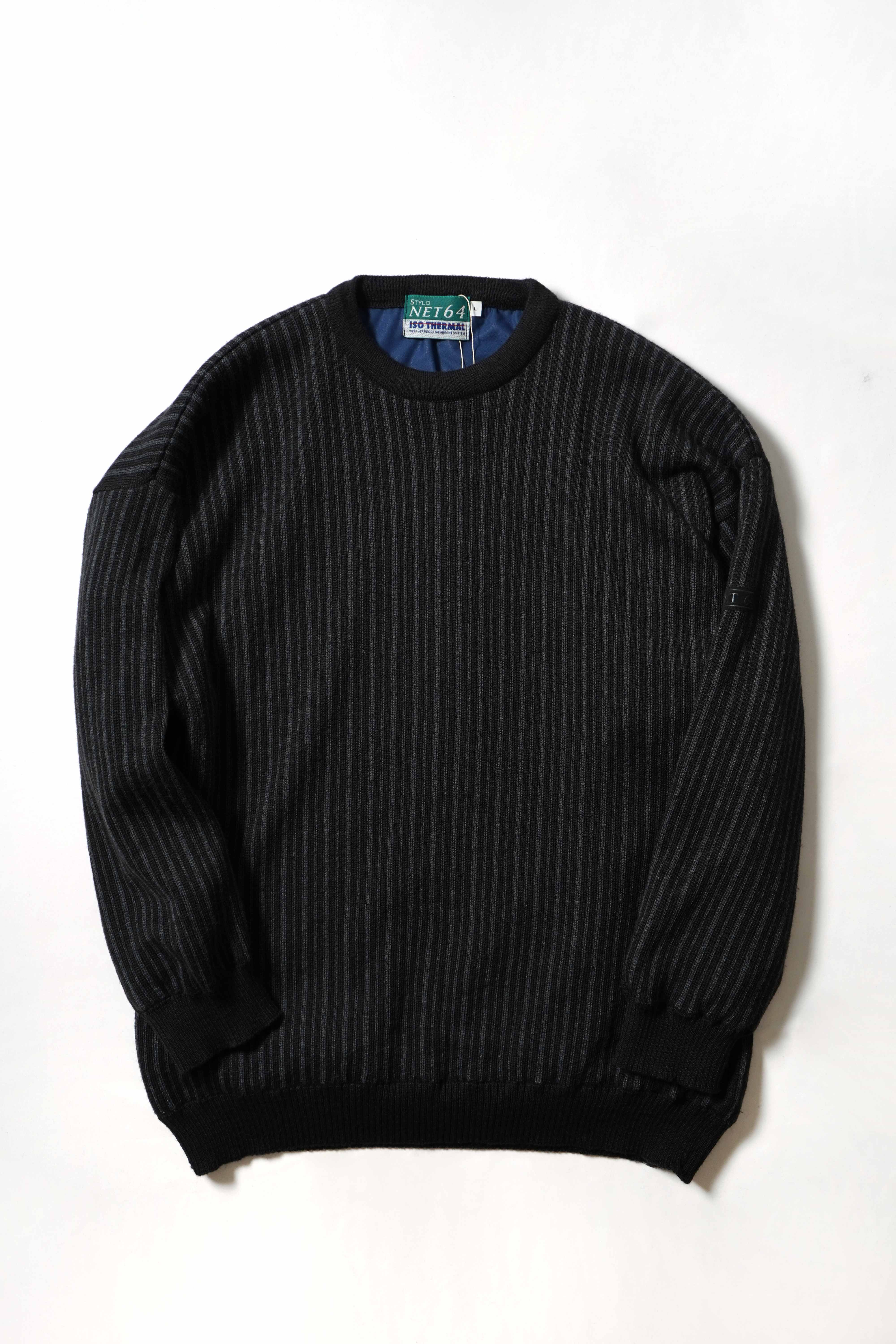 STRIPE PATTERN KNIT SWEATER