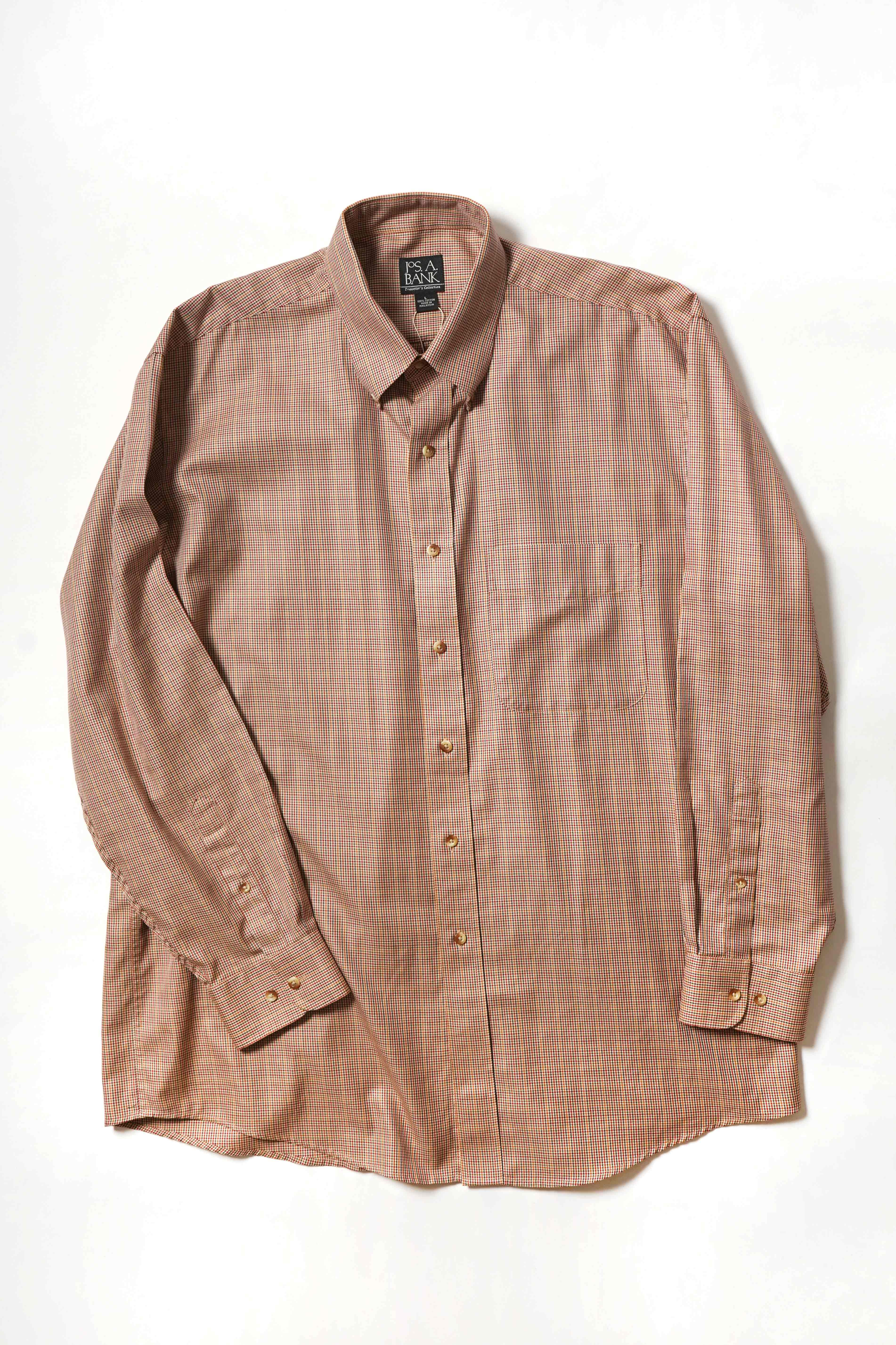 RED BROWN CHECK SHIRT