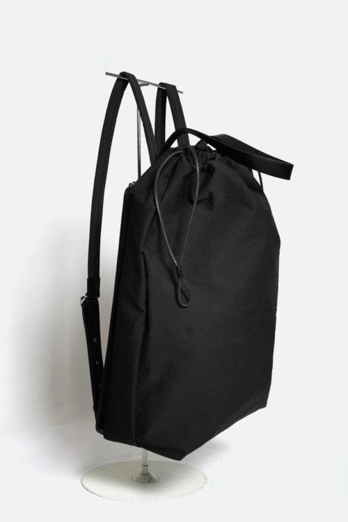 Draw Backpack in Black Crinkle