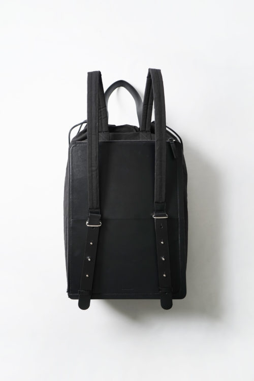 Draw Backpack in Black Crinkle