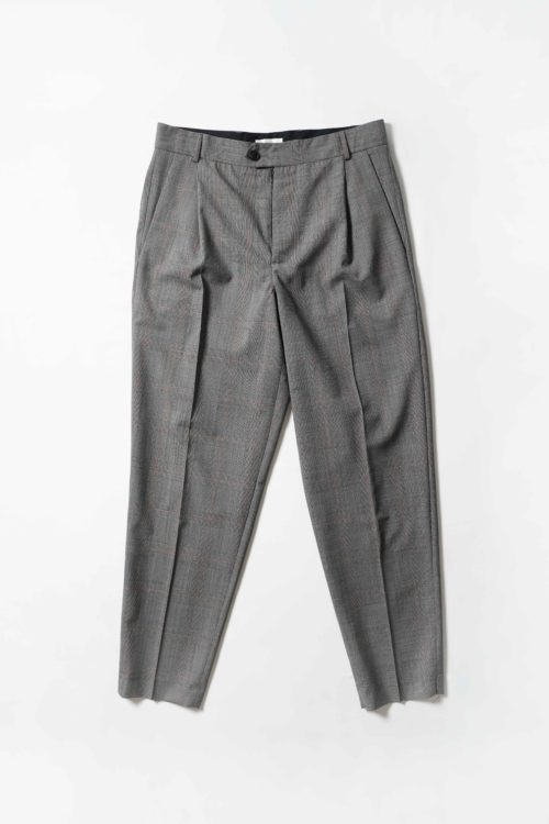 Tapered legs trouser Grey check