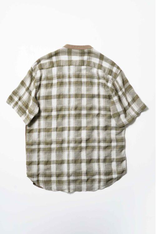 Linen Stand Collar Shirt