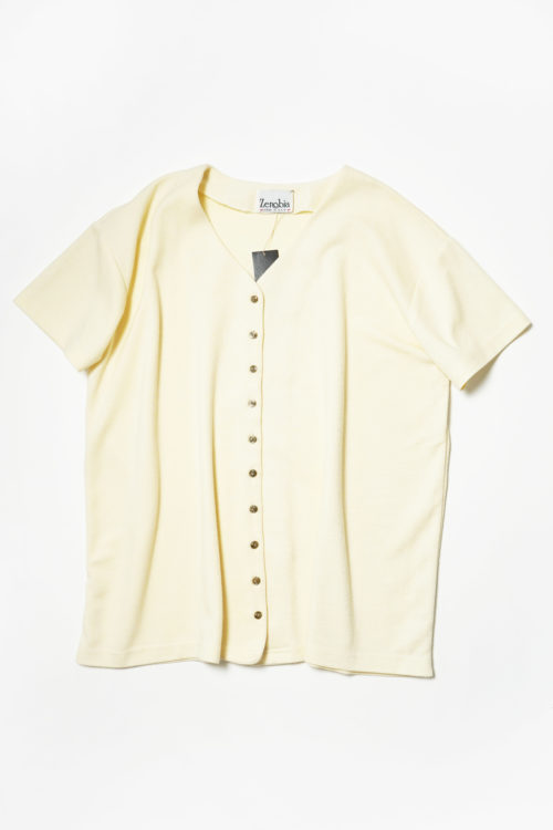 OFF WHITE KNIT S/S SHIRT
