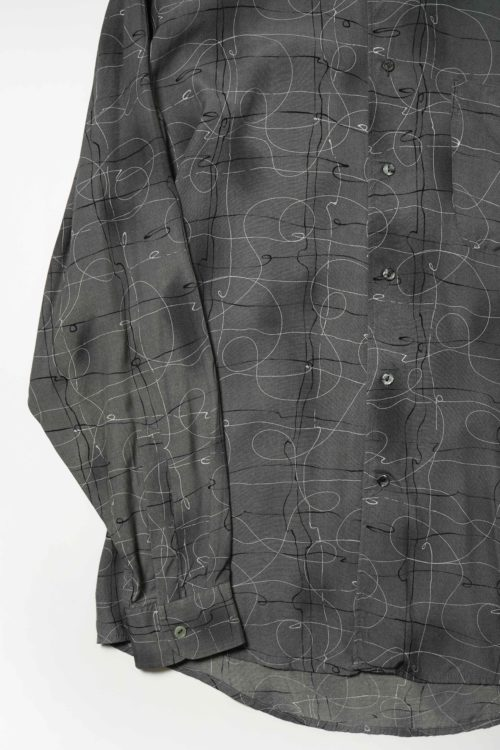 PATTERND GRAY L/S SHIRT
