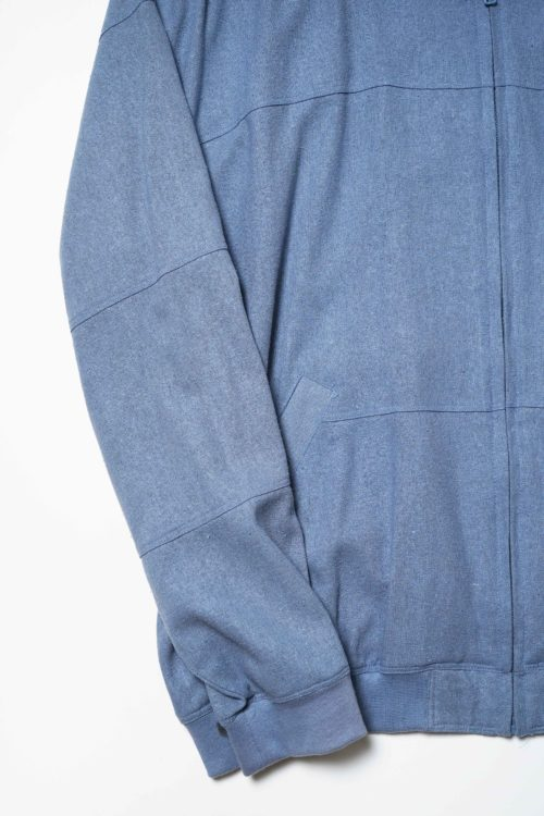 SILK FABRIC ZIP BLOUSON