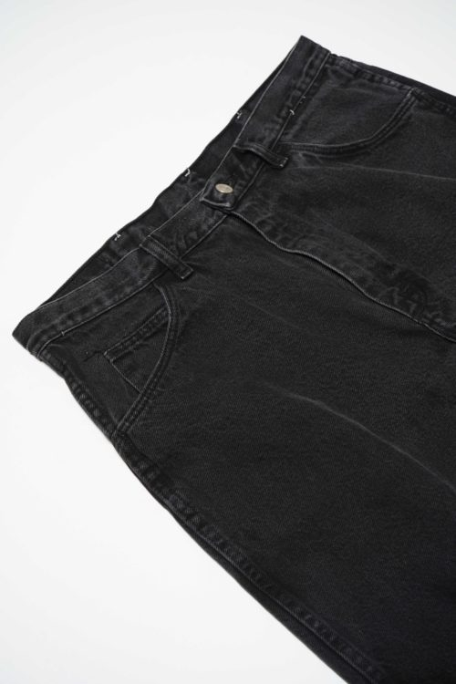 BLACK DENIM SHORT PANTS