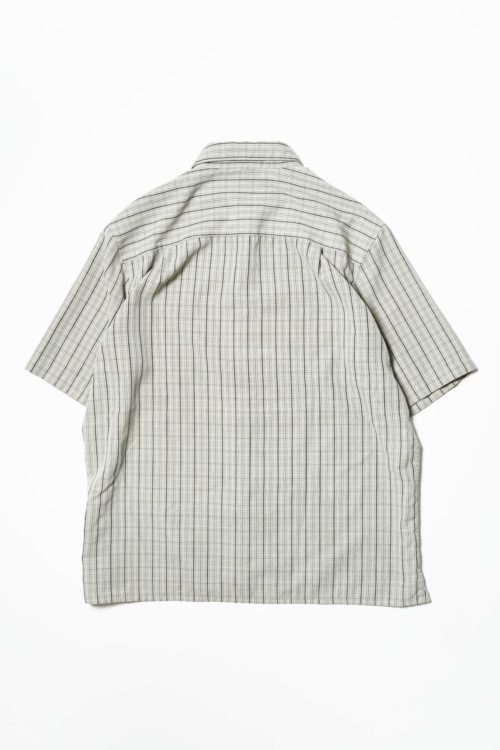 SUEDED GEGRGE S/S CHECK SHIRTS