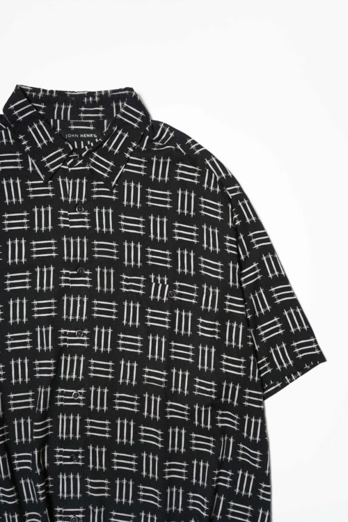 DESIGN RAYON S/S SHIRT BLACK