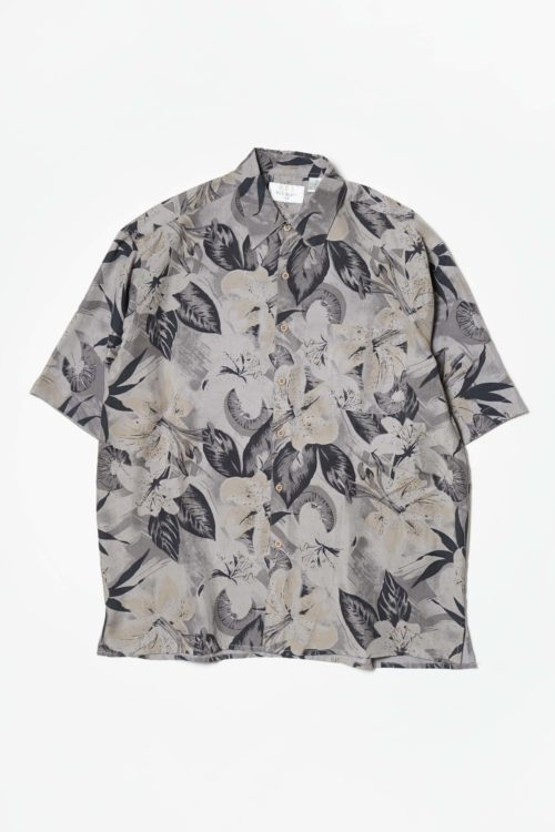 S/S SHIRT FLOWER GRAY