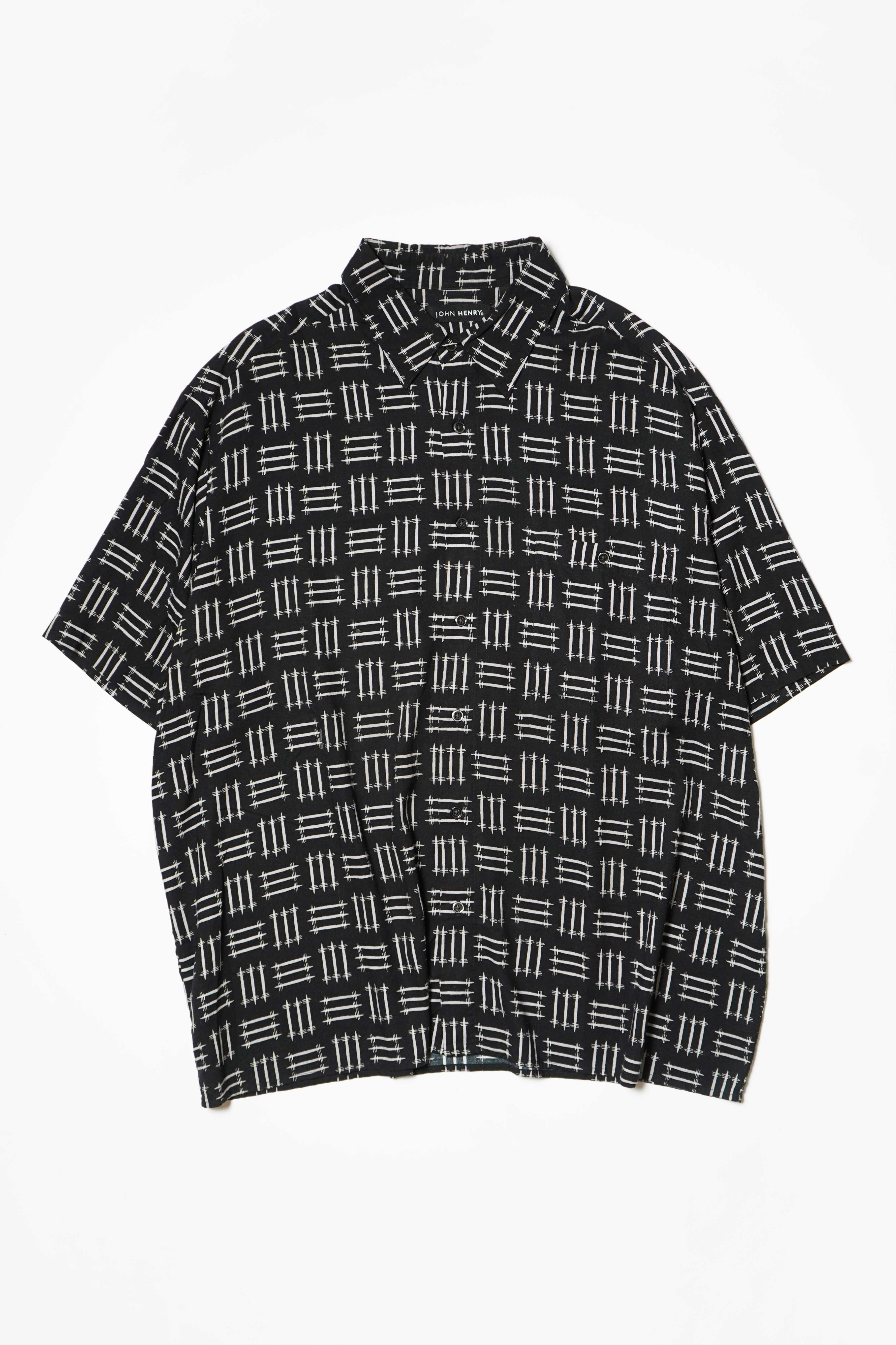 DESIGN RAYON S/S SHIRT BLACK