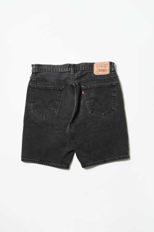 Levi's 505 BLACK DENIM SHORT PANTS