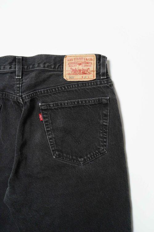Levi's 505 BLACK DENIM SHORT PANTS