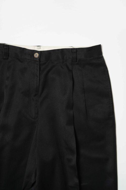 POLYESTER SLACKS PANTS BLACK