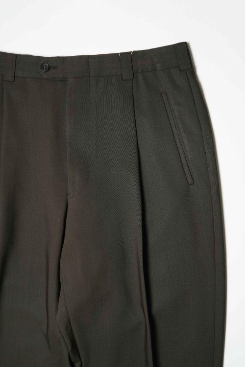 SUMMER WOOL REMAKE SLACKS PANTS BROWN