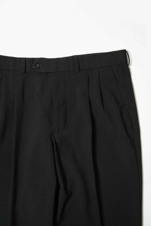 SUMMER WOOL REMAKE SLACKS PANTS BLACK