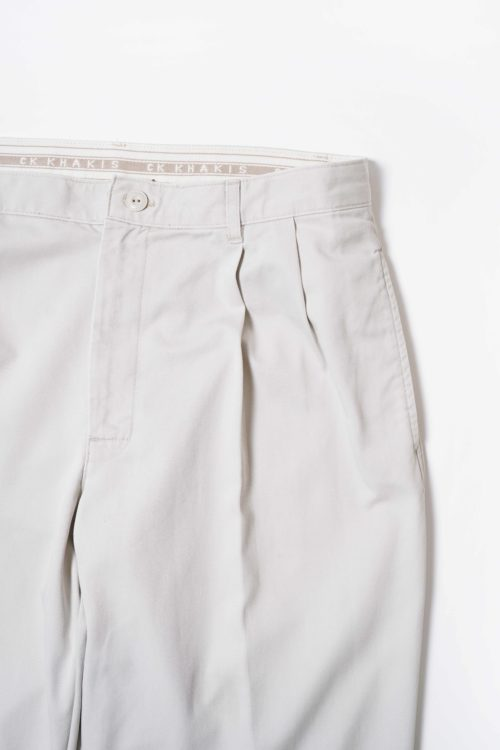 COTTON REMAKE SLACKS PANTS LIGHT GREY