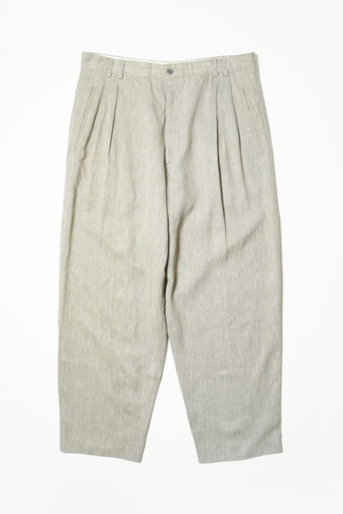 REMAKE SLACKS PANTS GRAY BEIGE