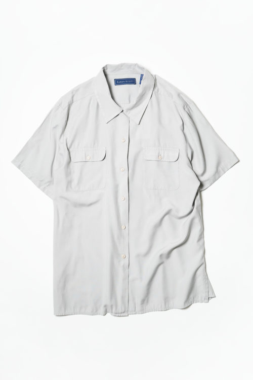 LIGHT GRAY RAYON S/S SHIRT