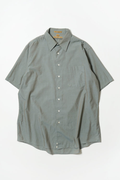 COTTON S/S SHIRT GREEN GREY