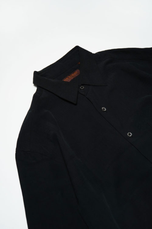 PATTERN FABRIC BLACK S/S SHIRTS