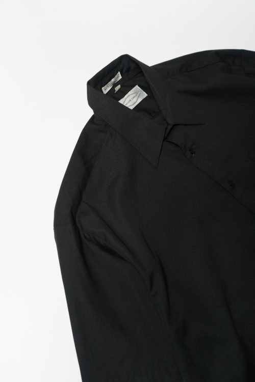POLYESTER S/S SHIRT BLACK