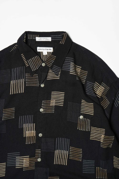 RAYON DESIGN S/S SHIRT BLACK