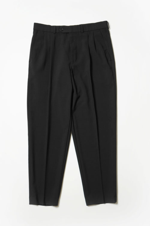 SUMMER WOOL REMAKE SLACKS PANTS BLACK