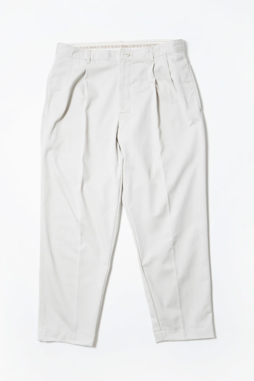COTTON REMAKE SLACKS PANTS LIGHT GREY