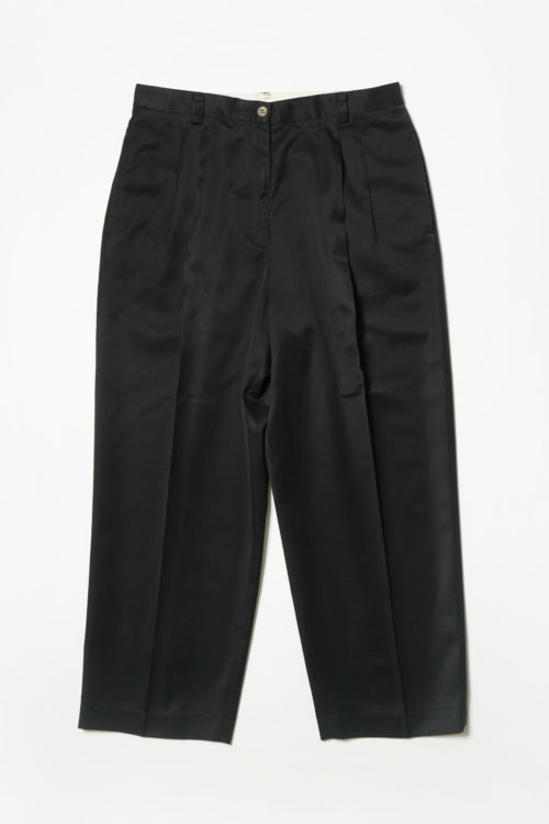 POLYESTER SLACKS PANTS BLACK
