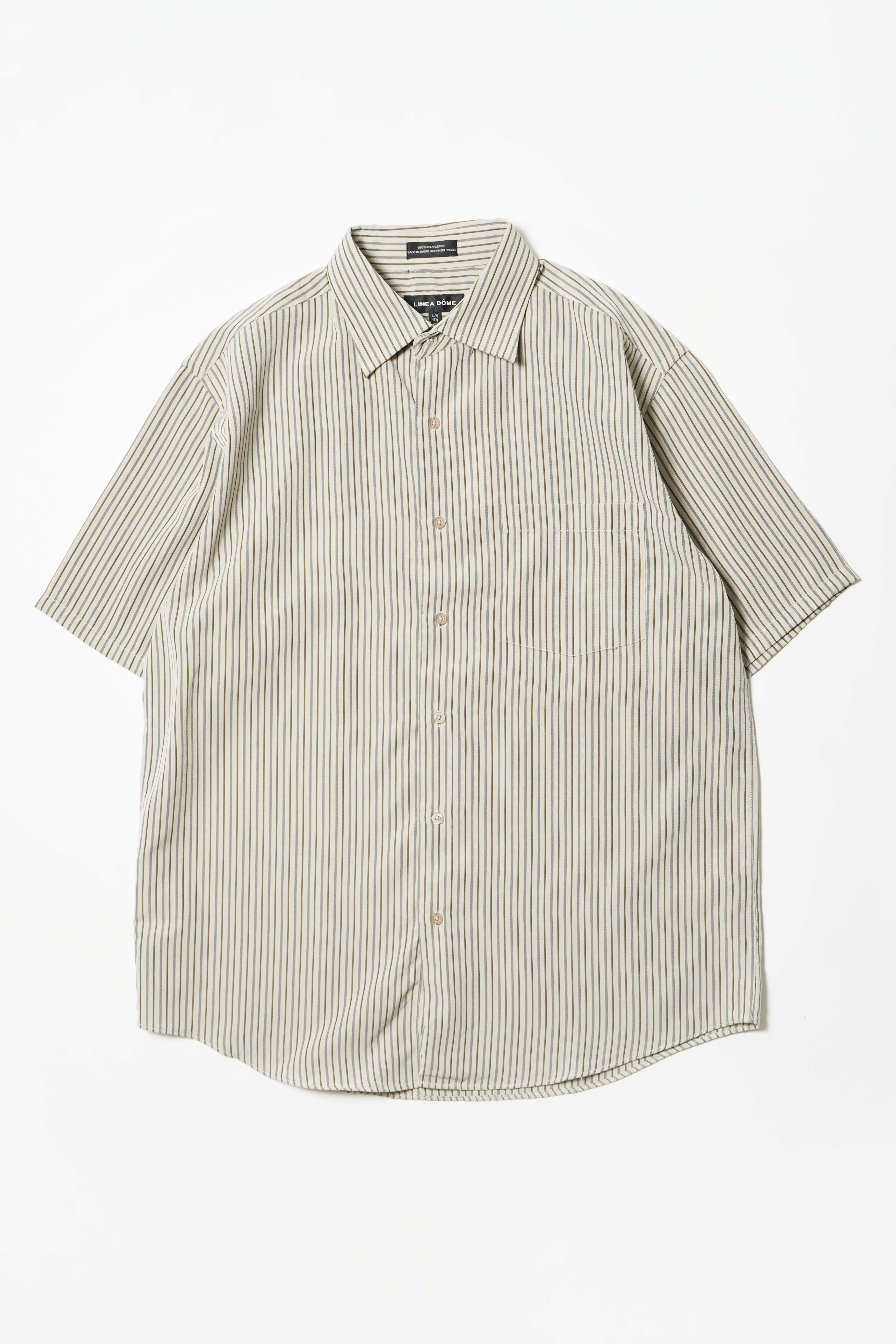 STRIPE BEIGE DESIGN S/S SHIRT