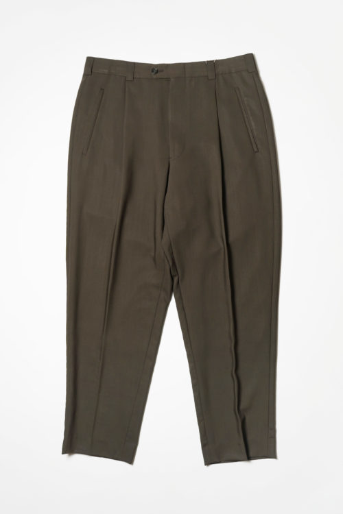 SUMMER WOOL REMAKE SLACKS PANTS BROWN