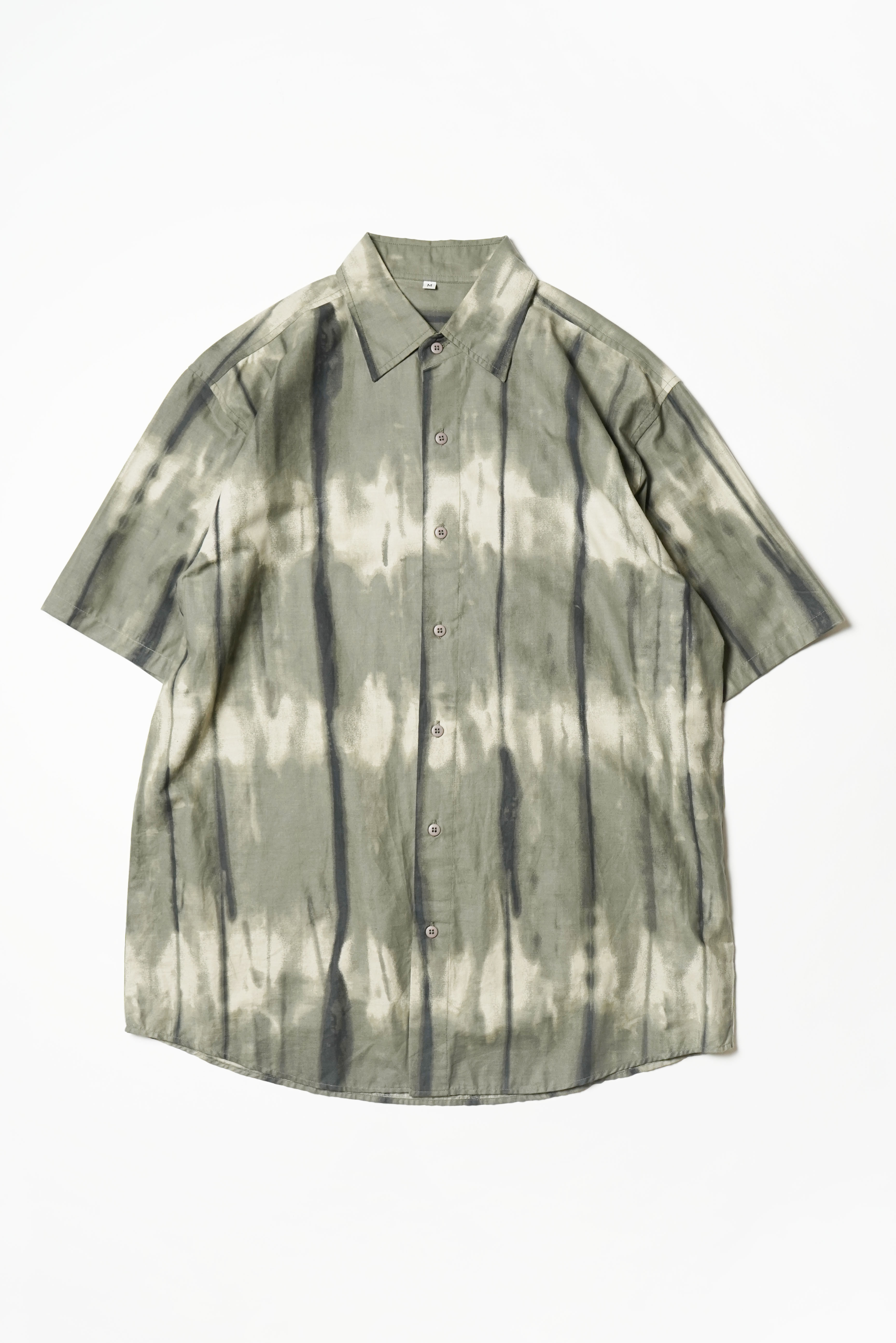 OVER DYE DESIGN S/S COTTON SHIRTS MADE IN NETHERLAND