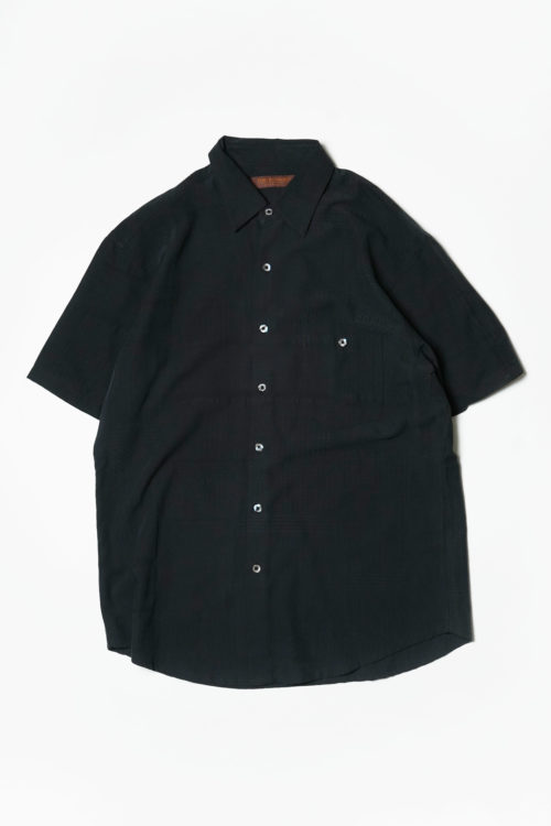 PATTERN FABRIC BLACK S/S SHIRTS