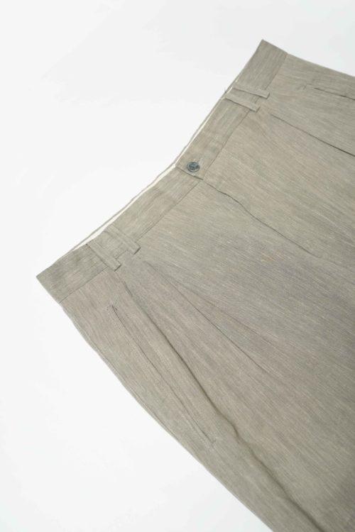 REMAKE SLACKS PANTS GRAY BEIGE