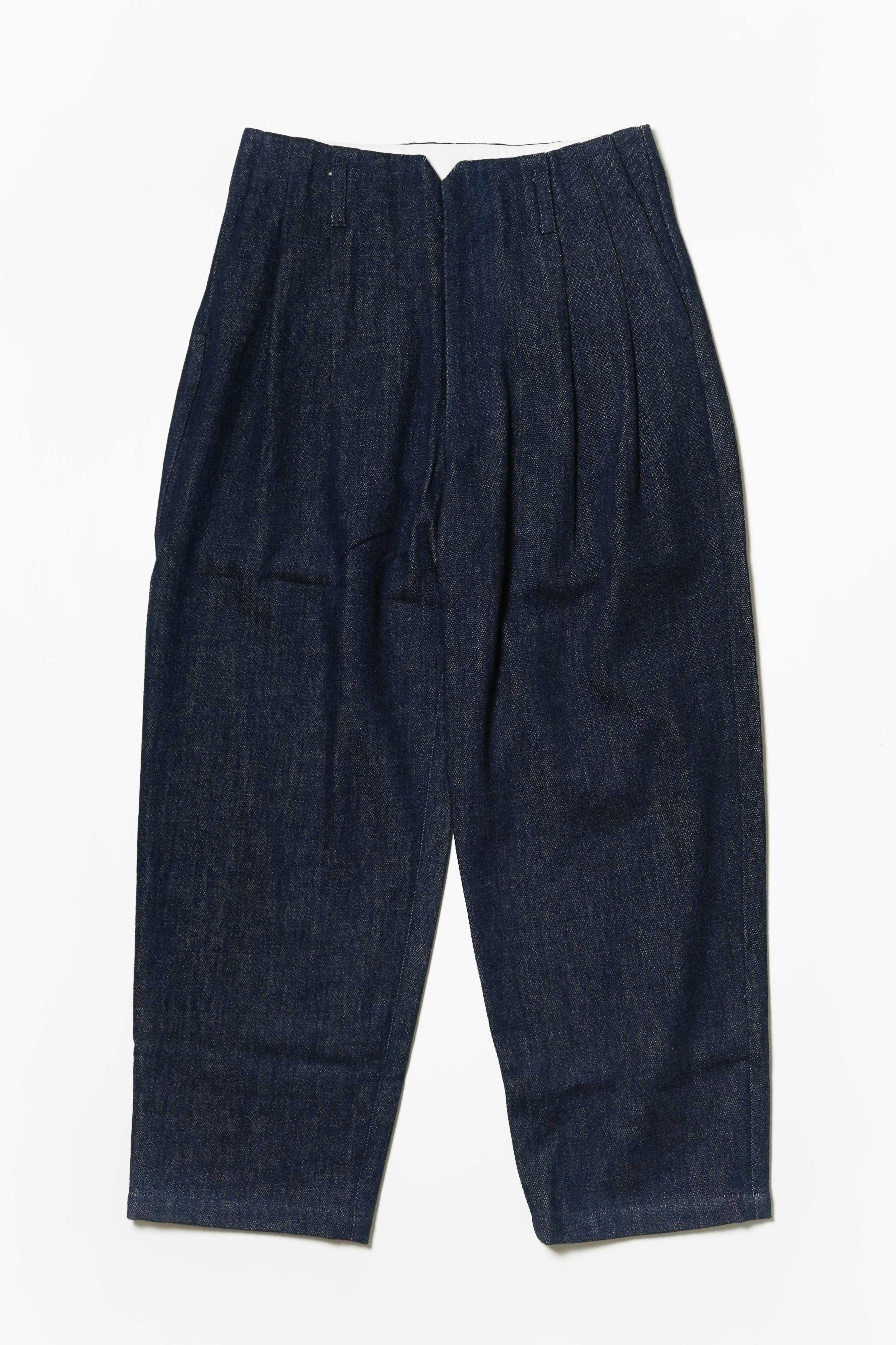 2 TUCK COTTON SLACKS - MOUKOHAN