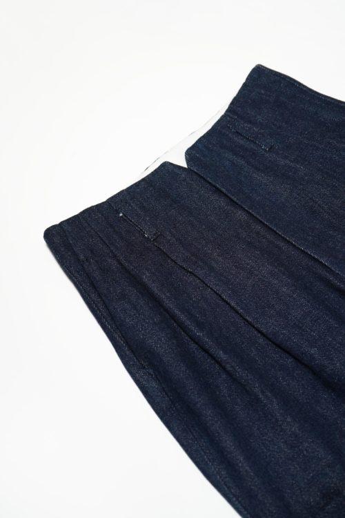 2 TUCK COTTON SLACKS - MOUKOHAN