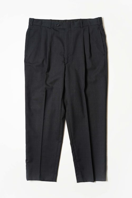 SUMMER WOOL REMAKE SLACKS PANTS DARK NAVY