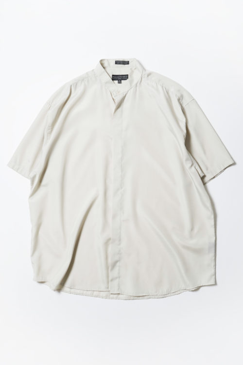 STAND COLLAR S/S SHIRT LIGHT GREEN