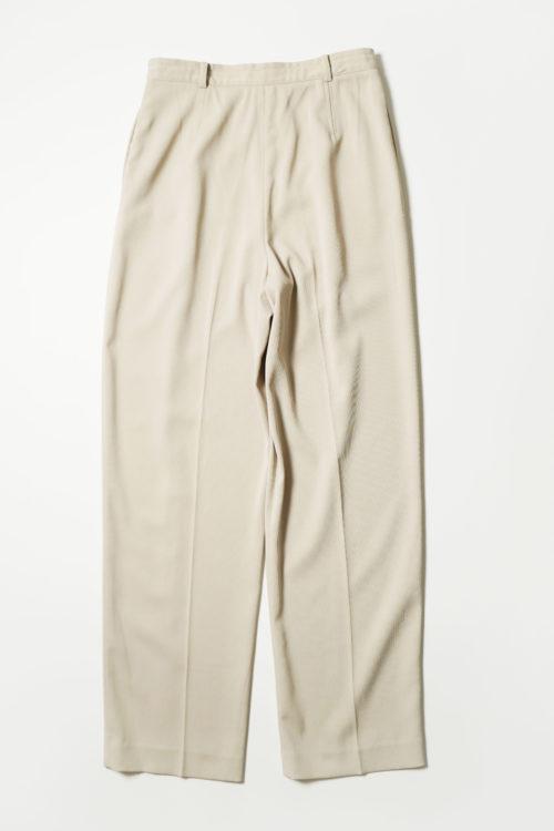POLYESTER SLACKS PANTS BEIGE