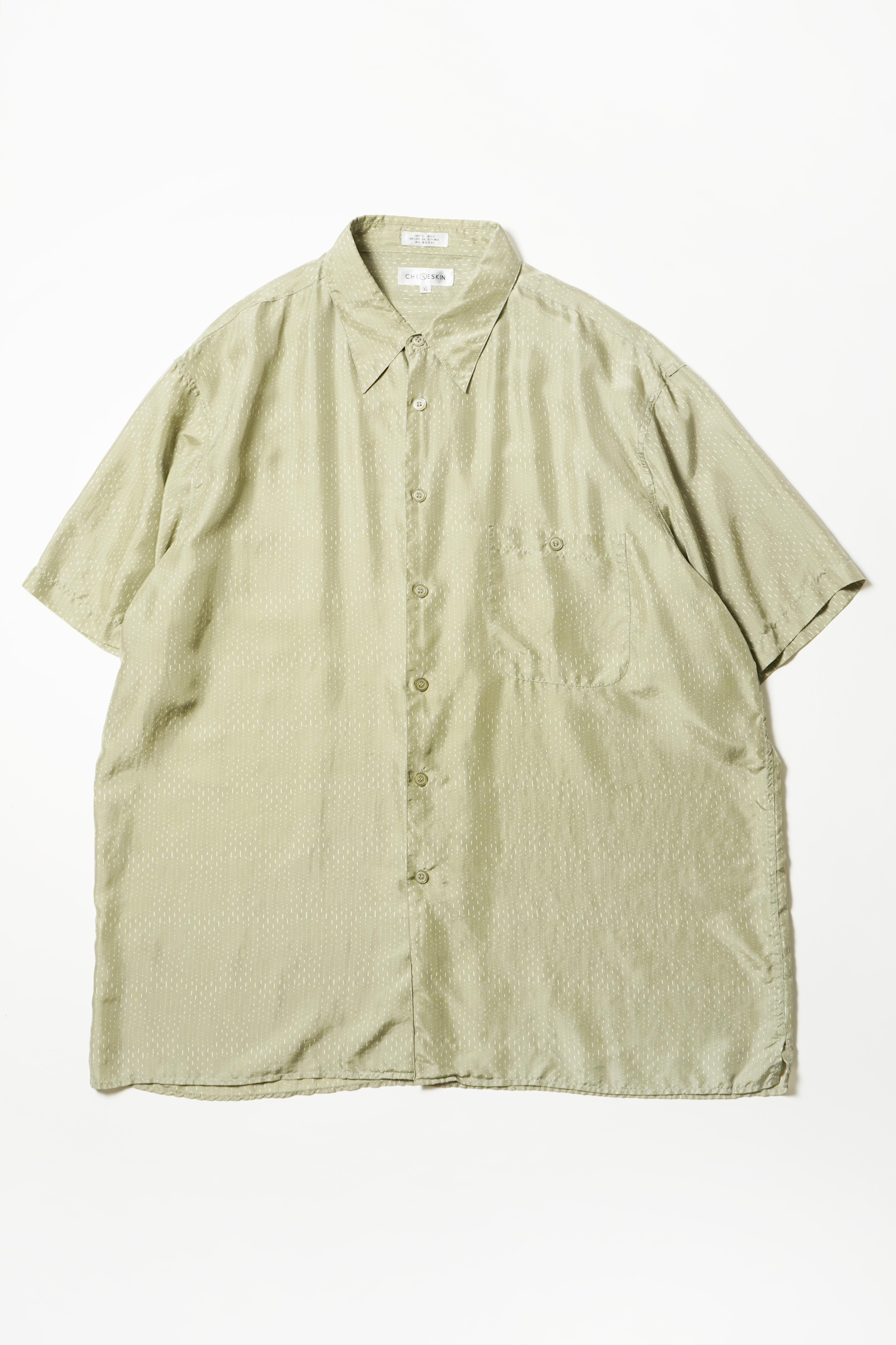 SILK DESIGN S/S SHIRT GREEN