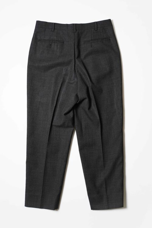 WOOL REMAKE SLACKS PANTS DARK GRAY