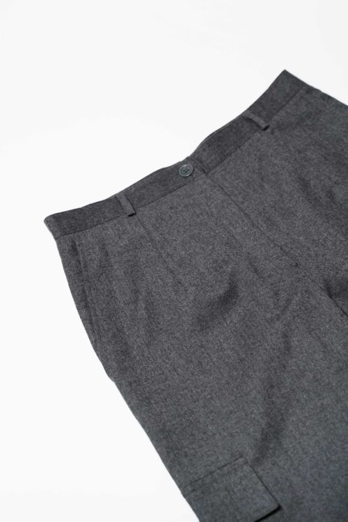 GRAY CARGO DETAIL PANTS