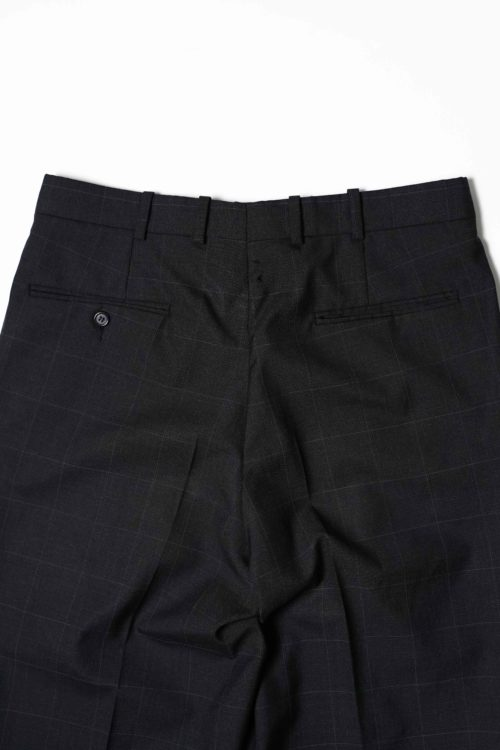 REMAKE SLACKS PANTS CHECK BLACK