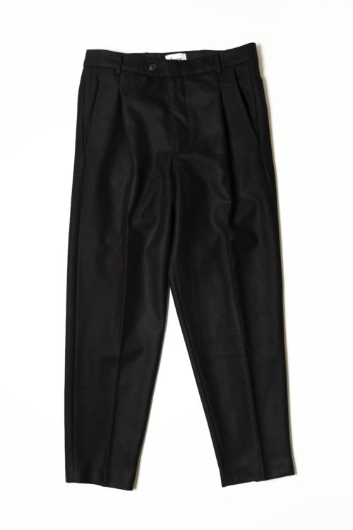 TAPERED LEGS TROUSERS BLACK