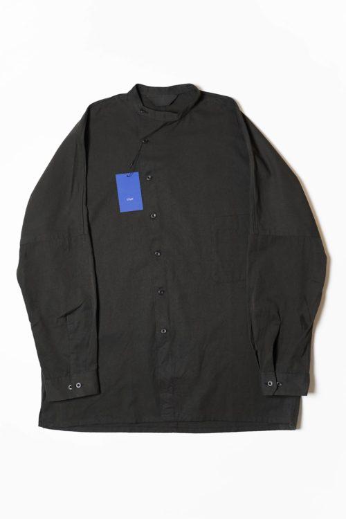 DOLMAN SLANT SHIRT BLACK