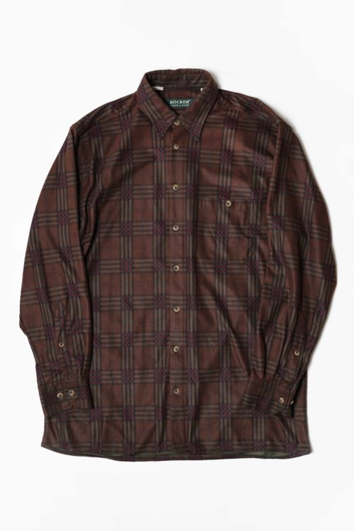 BROWN CHECK PATTERNS SHIRTS