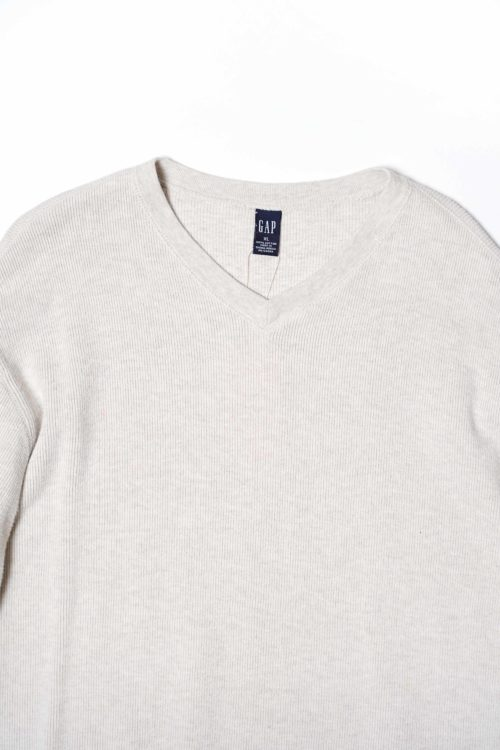 V NECK COTTON KNIT