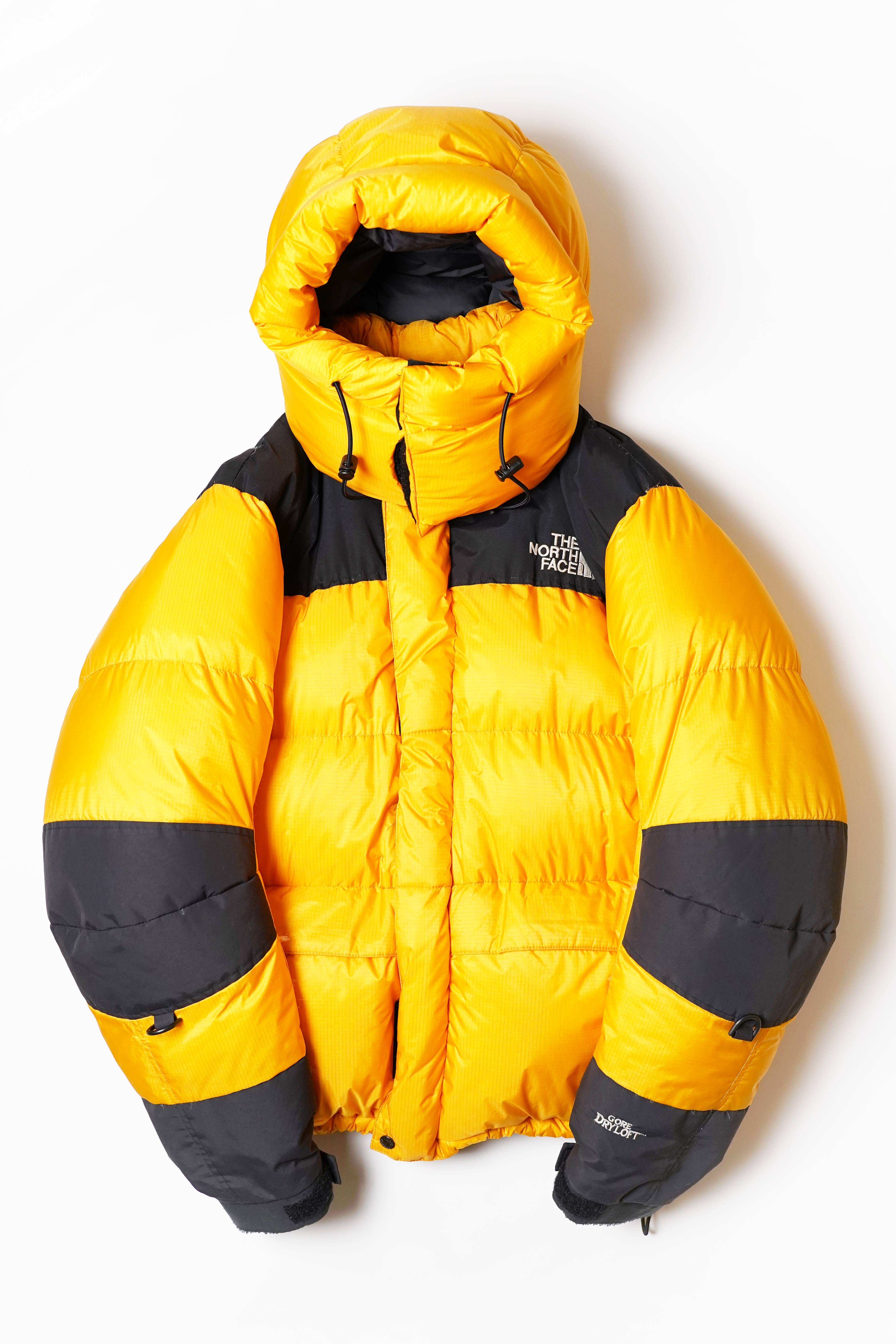 95 MANUFACTURED GORE DRY LOFT DOWN JACKET YELLOW × BLACK 2TONE