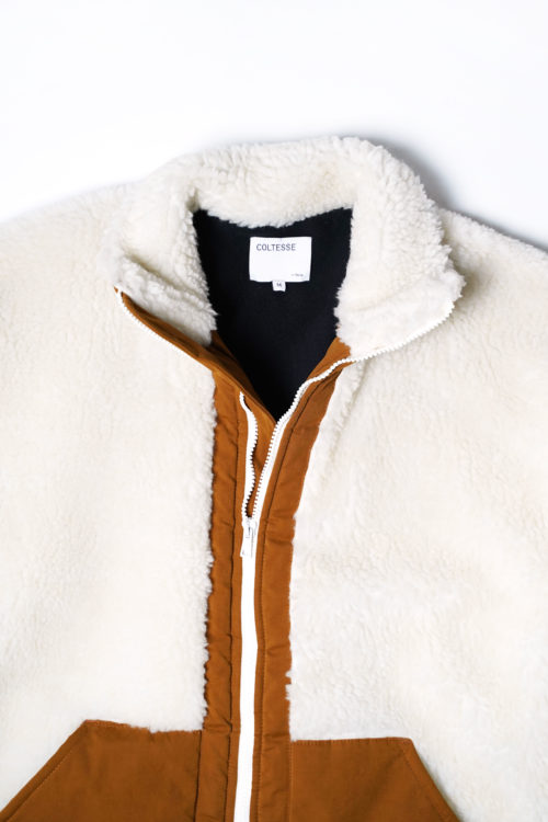 BLOUSON FULL FAUX FUR - WHITE BROWN(copy)